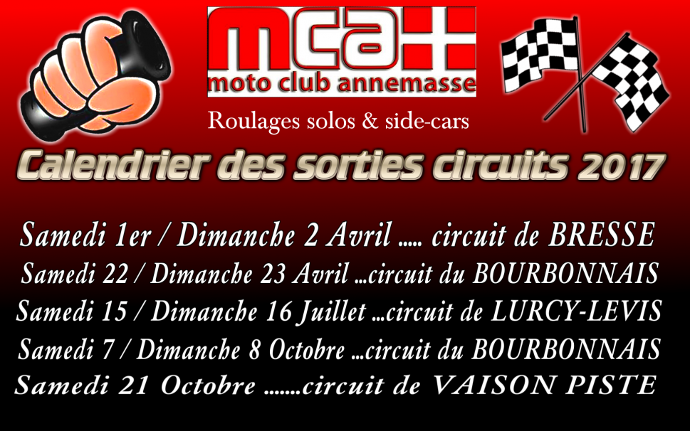 Affiche sorties circuits